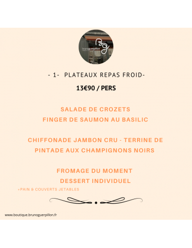 -1- Plateau Repas Froid